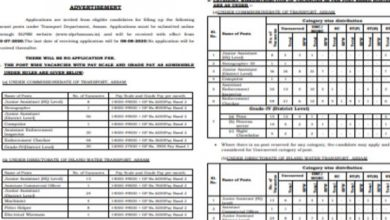Photo of Assam Police Recruitment 2020 for 225+ Jr Assistants / Computer, Enforcement Officers, Stenographer, Enforcement Checkers, Grade-IV and Other Staff