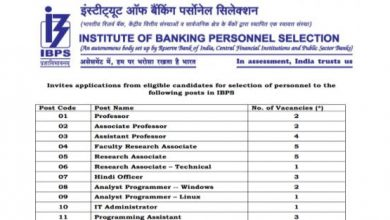 Photo of IBPS Recruitment 2020 for 29+ IT Staff, Hindi Officers, Research Associates, Teaching Faculty & Other
