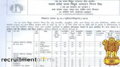 Photo of UPRVUNL Recruitment 2020 for 367+ Assistant Engineers, Review Officers, Technicians, Staff Nurses, Pharmacists, Accounts & Other
