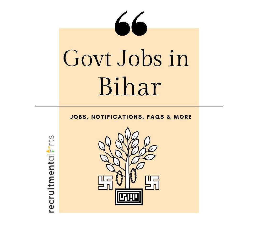 Bihar Govt Jobs 2021