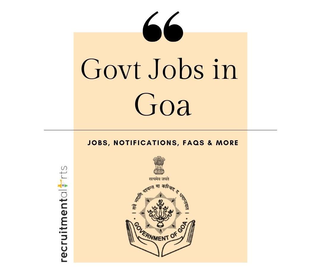 Goa Govt Jobs 2021