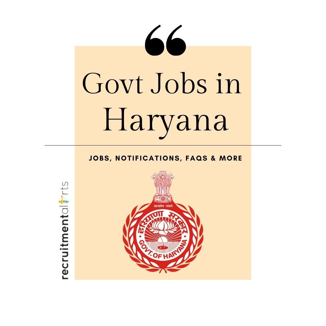 Haryana Govt Jobs 2021