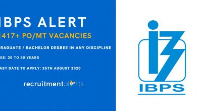 Photo of IBPS Recruitment Notification for 1417+ Probationary Officer/ Management Trainee (PO/MT) Vacancies