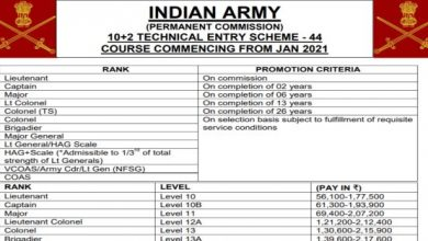 Photo of Join Indian Army Course Jan 2021 – Apply to 10+2 Technical Entry Scheme (TES-44) (90+ Posts)