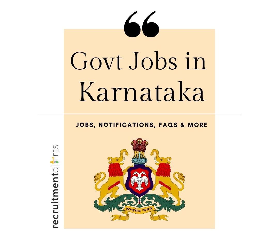 Karnataka Govt Jobs 2021