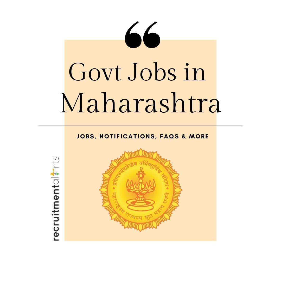 Maharashtra Govt Jobs 2021