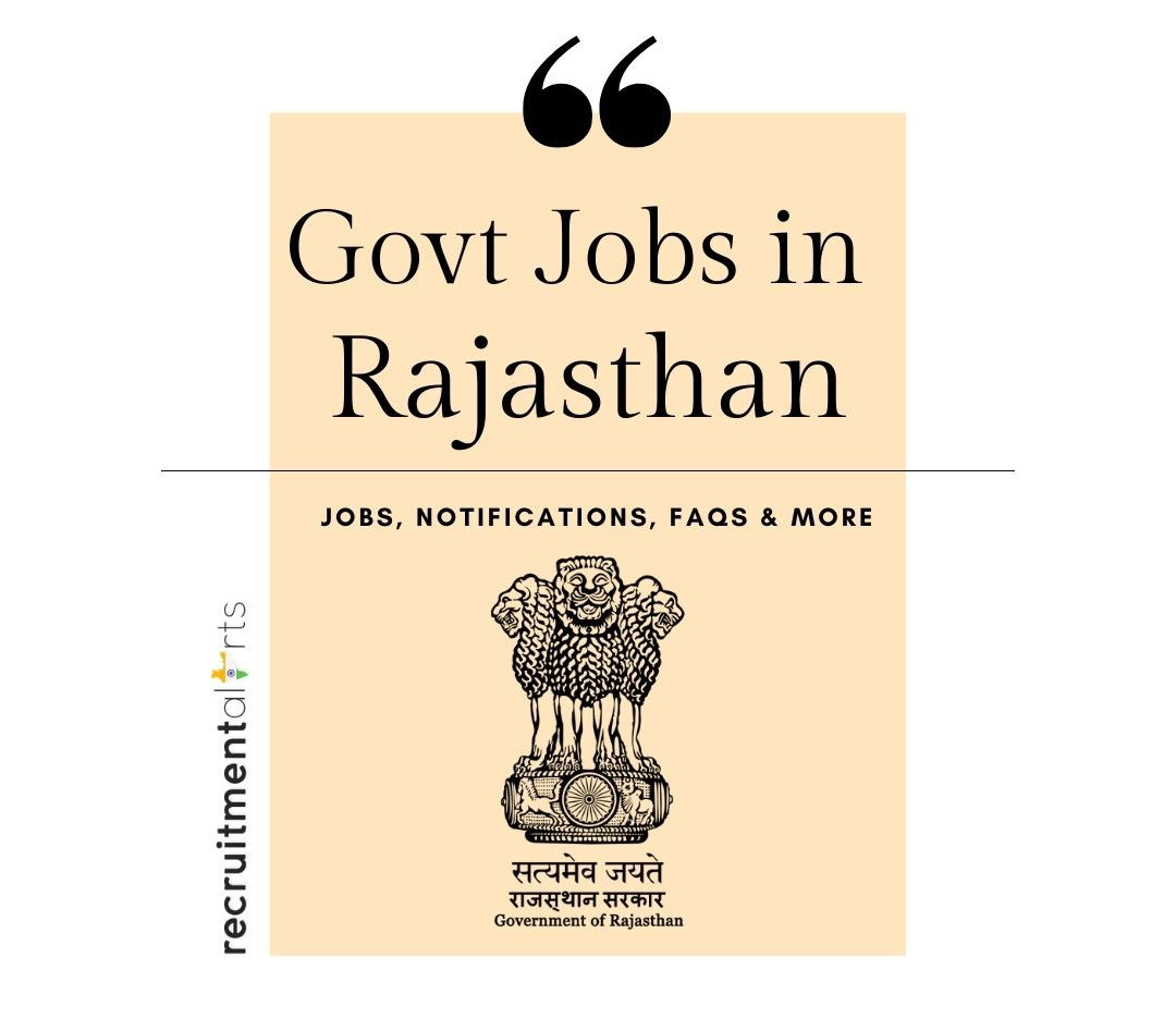 Rajasthan Govt Jobs 2021