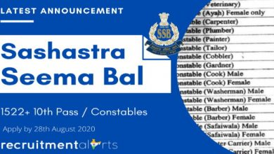 Photo of Sashastra Seema Bal Recruitment 2020 for 1522+ 10th Pass / Constables Vacancies